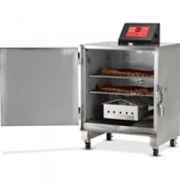 Печь-коптильня передвижная, 2 решётки 457х356мм, нерж. сталь