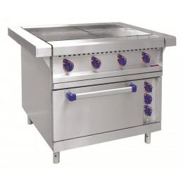 Плита электрическая четырехконфорочная с жарочным шкафом ЭП-4ЖШ