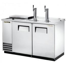 Модуль пивной холод., 2 крана, 2 кеги, ларь-охладитель, нерж.сталь
