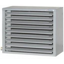 Тепловентиляторы  серия TW (с водяным источником тепла) 2 - двухрядный воздухонагреватель, 3 - трёхрядный воздухонагреватель,