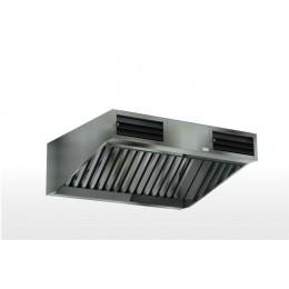 Зонт приточно вытяжной пристенный (нерж. сталь. aisi 430)